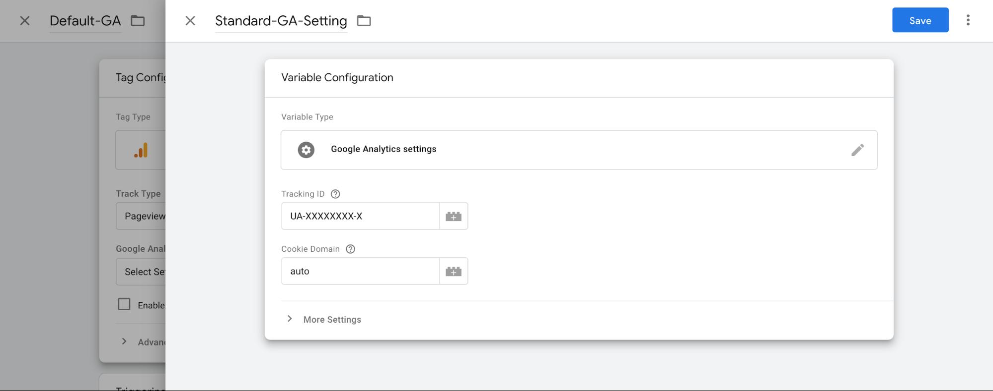 modifica google analytics impostazioni tag manager